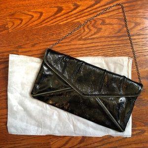 BCBGMaxAzria Women's Black Clutch with Dust Bag